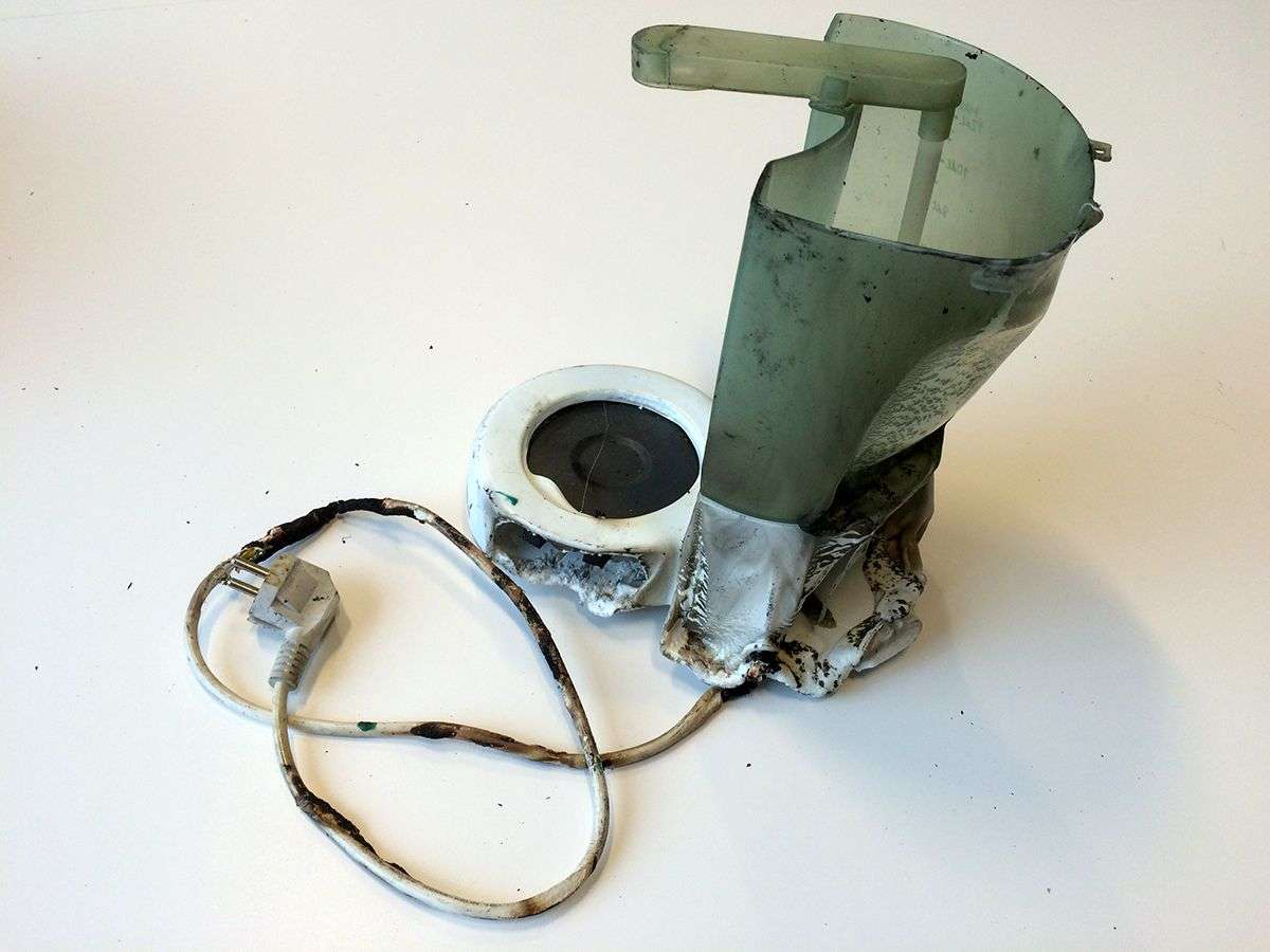 Svidd kaffetrakter