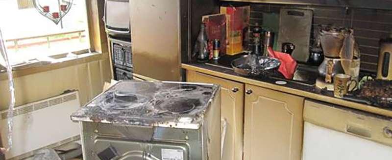 Kjøkken etter brann