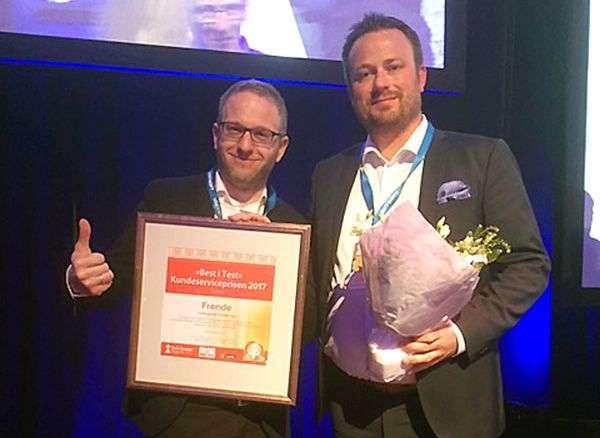Frende vinner Kundeserviceprisen 2017