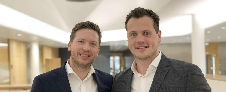 Andreas Gjeitrem og Kristian Karstad har startet bedriftssenter i Bergen