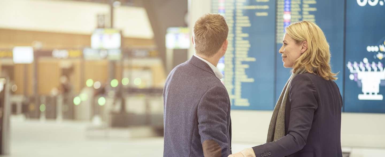 Par på flyplass