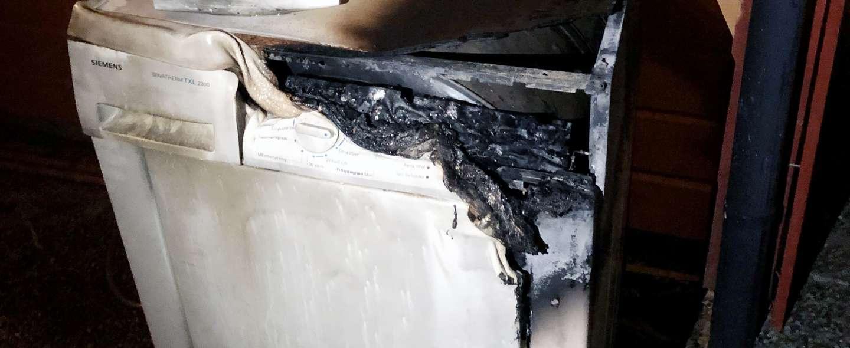 Brann i tørketrommel