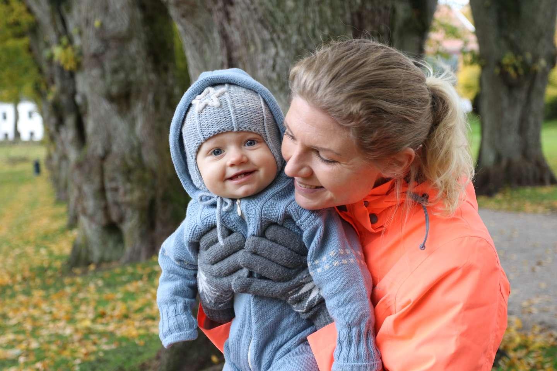 Marlene Hagberg og sønnen Mathias