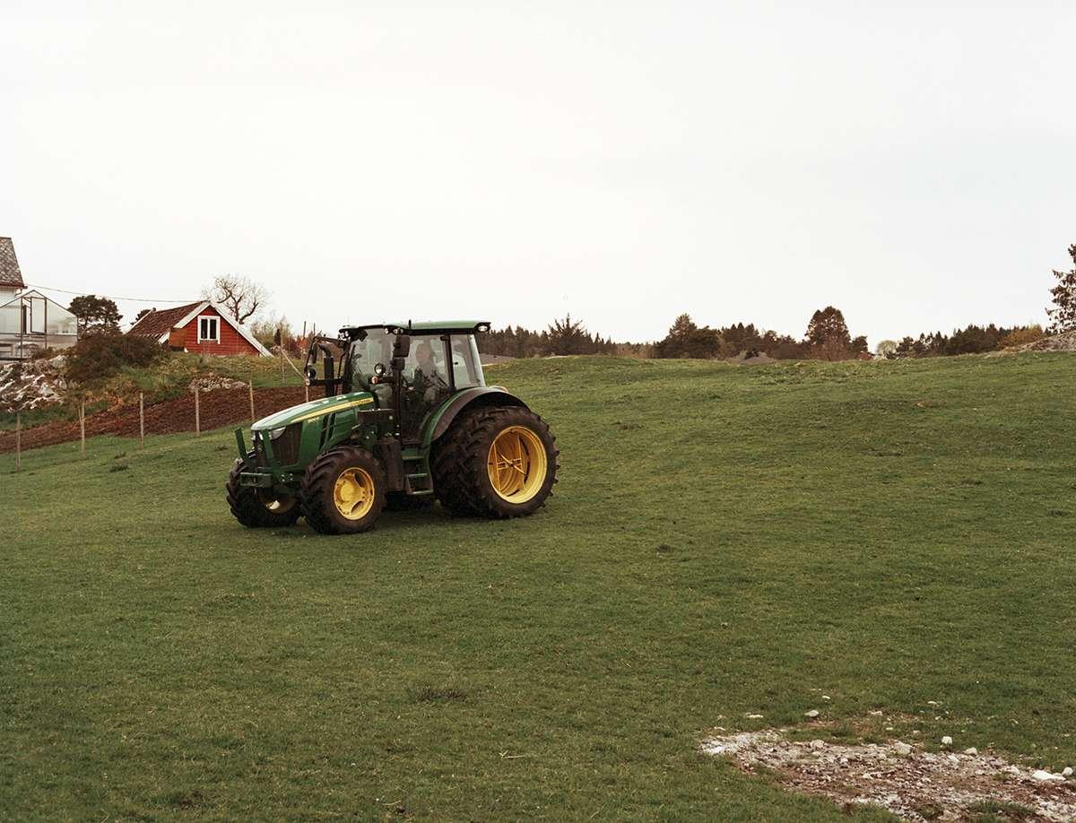 Traktor. Foto.