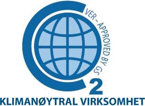 Logo klimanøytral virksomhet