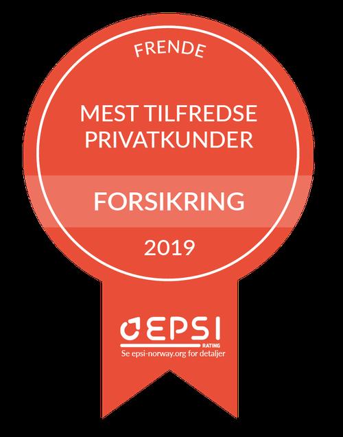 Diplom Norges mest fornøyde kunder 2019