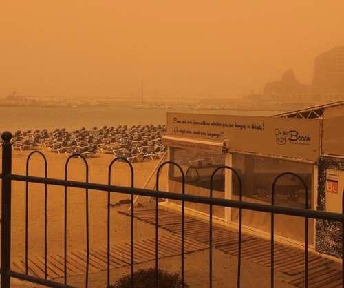 Sandstorm i Puerto Rico på Gran Canaria