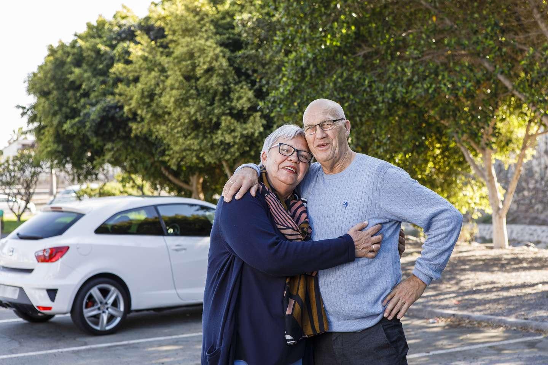 Kirsti og Svein etter bilulykken