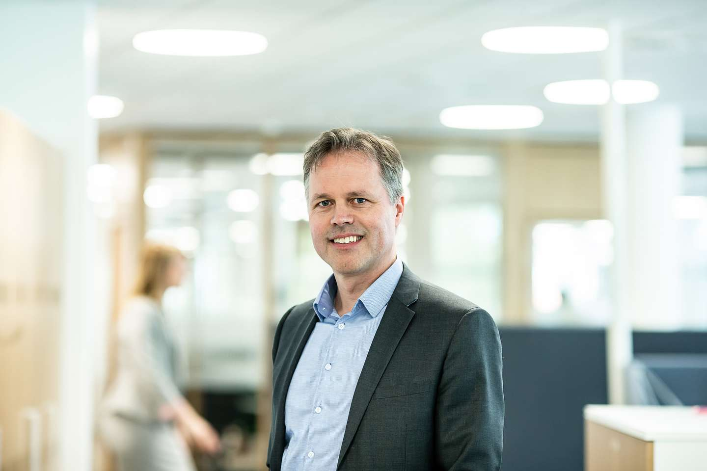 Ketil Sæthre er leder for bedriftsmarkedet i Frende Forsikring